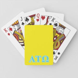 Alpha Tau Omega Blue Letters Poker Cards