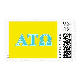 Alpha Tau Omega Blue Letters Postage Stamp