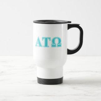 Alpha Tau Omega Blue Letters Travel Mug