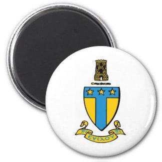Alpha Tau Omega Color Crest 2 Inch Round Magnet