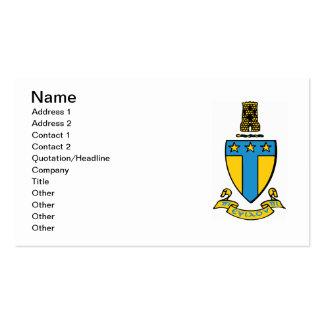 Alpha Tau Omega Color Crest Business Card