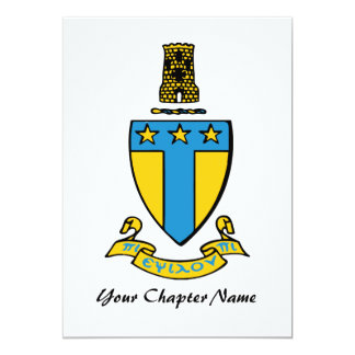 Alpha Tau Omega Color Crest Card
