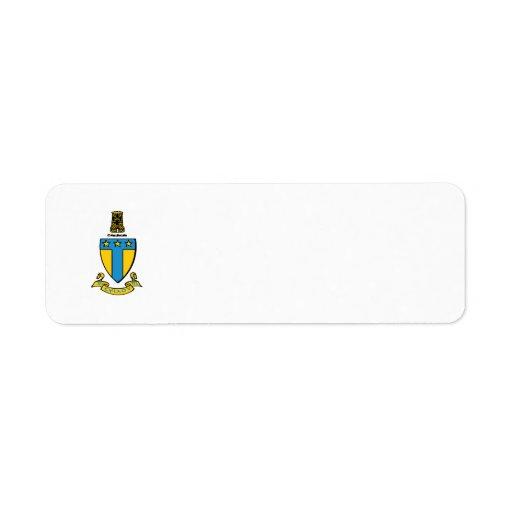 Alpha Tau Omega Color Crest Label
