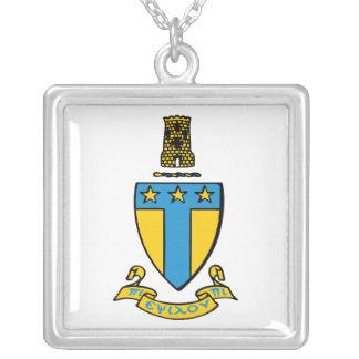 Alpha Tau Omega Color Crest Square Pendant Necklace