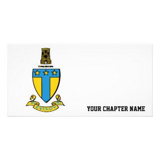 Alpha Tau Omega Color Crest Customized Photo Card