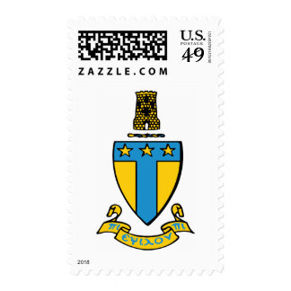 Alpha Tau Omega Color Crest Postage