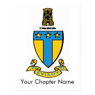 Alpha Tau Omega Color Crest Post Card