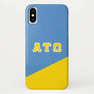 Alpha Tau Omega   Greek Letters iPhone X Case