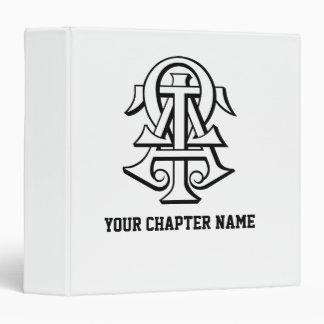 Alpha Tau Omega Interlocked Letters 3 Ring Binders