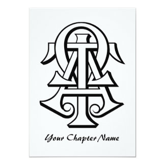 Alpha Tau Omega Interlocked Letters Card