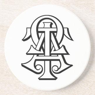 Alpha Tau Omega Interlocked Letters Coaster