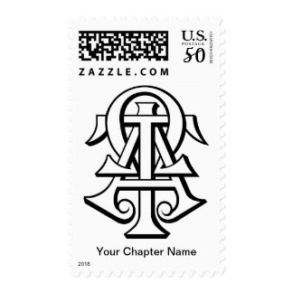 Alpha Tau Omega Interlocked Letters Postage