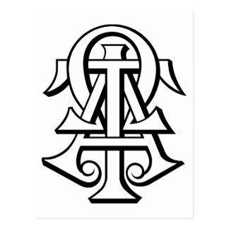 Alpha Tau Omega Interlocked Letters Postcards