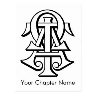 Alpha Tau Omega Interlocked Letters Post Card