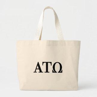Alpha Tau Omega Letters Jumbo Tote Bag