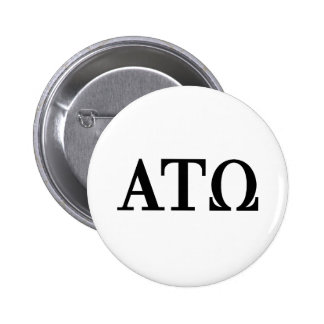 Alpha Tau Omega Letters 2 Inch Round Button