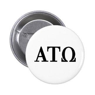 Alpha Tau Omega Letters Pins
