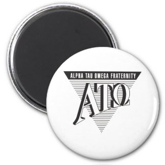 Alpha Tau Omega Name and Letters 2 Inch Round Magnet