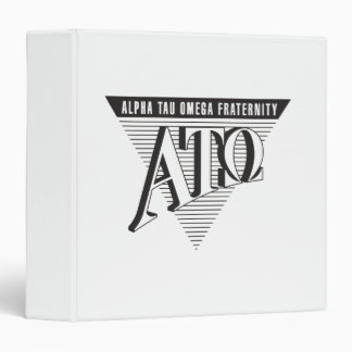 Alpha Tau Omega Name and Letters 3 Ring Binder