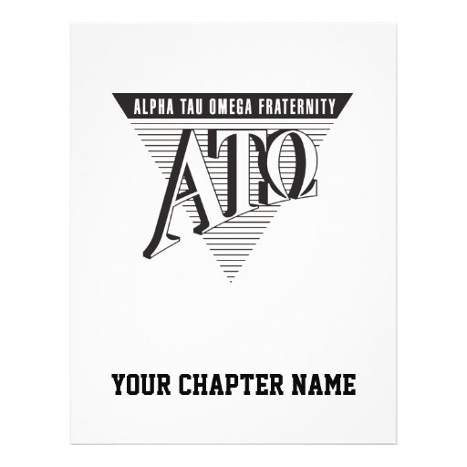 "Alpha Tau Omega Name and Letters 8.5"" X 11"" Flyer"