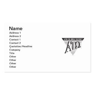 Alpha Tau Omega Name and Letters Business Card