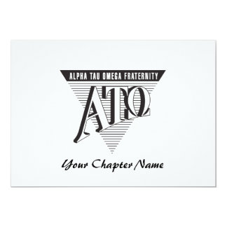 Alpha Tau Omega Name and Letters Card