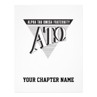 Alpha Tau Omega Name and Letters Flyer