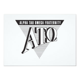 Alpha Tau Omega Name and Letters Personalized Announcement