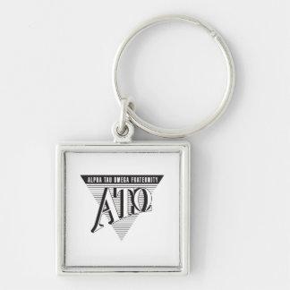 Alpha Tau Omega Name and Letters Keychain