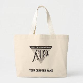Alpha Tau Omega Name and Letters Large Tote Bag