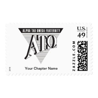 Alpha Tau Omega Name and Letters Postage