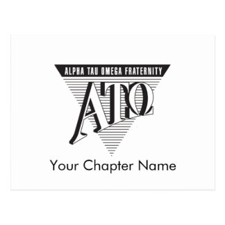 Alpha Tau Omega Name and Letters Postcard