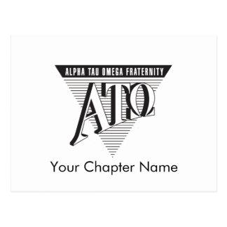 Alpha Tau Omega Name and Letters Post Card