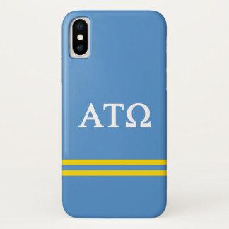 Alpha Tau Omega   Sport Stripe iPhone X Case