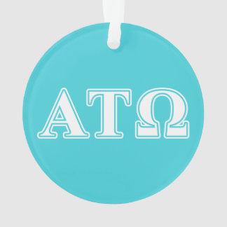 Alpha Tau Omega White and Blue Letters