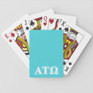 Alpha Tau Omega White and Blue Letters Card Decks