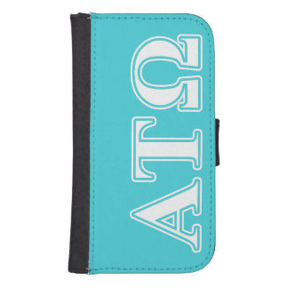 Alpha Tau Omega White and Blue Letters Phone Wallet Cases