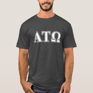 Alpha Tau Omega White and Blue Letters T-Shirt