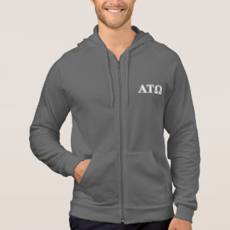 Alpha Tau Omega White and Blue Letters Hoodie