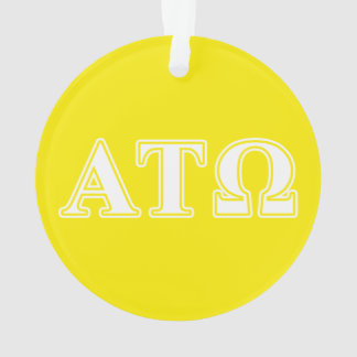 Alpha Tau Omega White and Yellow Letters