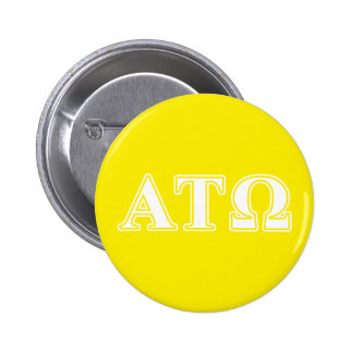 Alpha Tau Omega White and Yellow Letters 2 Inch Round Button