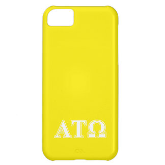 Alpha Tau Omega White and Yellow Letters Case For iPhone 5C
