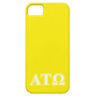 Alpha Tau Omega White and Yellow Letters iPhone SE/5/5s Case