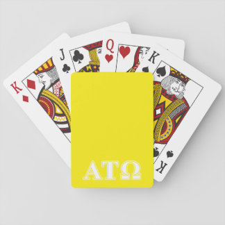 Alpha Tau Omega White and Yellow Letters Playing Cards