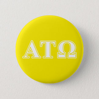 Alpha Tau Omega White and Yellow Letters Pinback Button