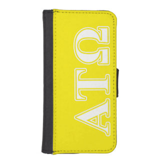 Alpha Tau Omega White and Yellow Letters Phone Wallet