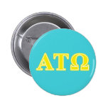 Alpha Tau Omega Yellow Letters 2 Inch Round Button