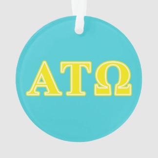 Alpha Tau Omega Yellow Letters