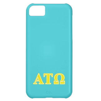 Alpha Tau Omega Yellow Letters iPhone 5C Cover