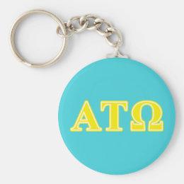Alpha Tau Omega Yellow Letters Keychain